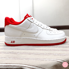 [CD0884-101] M NIKE AIR FORCE 1 LOW WHITE UNIVERSITY RED
