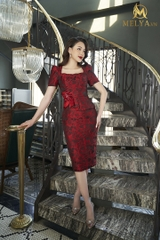 Red Pearl Dress - V362