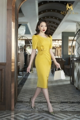 Yellow Orchid Dress - V370