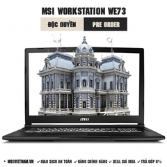 Laptop Workstation MSI WE73 8SK | Xeon E-2176M | DDR IV 8GB*2 (2666MHz) | 128GB NVMe PCIe SSD +1TB (SATA) 7200rpm | Quadro P3200, 6GB GDDR5 | 17.3