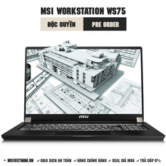 Laptop Workstation MSI WS75 9TL | i7-9750H | DDR IV 16GB*2 (2666MHz) | SSD 1TB NVMe PCIe | Quadro RTX4000, 8GB GDDR6 | 17.3