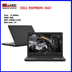 Laptop Dell Inspiron 14 N3467- I3 6006U | 4GB | SSD 240GB (Đen)