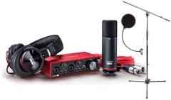 Focusrite SCARLETT Studio Pack w/CM25 Microphone, Headphones, 2i2, Code for Software Bundle Mic Cable, Boom Stand, and Pop Filter