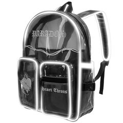 HEART THRONS BACKPACK - TRANSPARENT POCKET