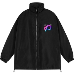 SOLID ZIP LOGO OVER-PRINTED JACKET