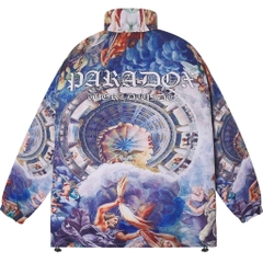 BEAD ZIP OVER-PRINTED JACKET