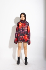 INTERTWINE ZIP OVERPRINTED JACKET