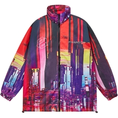 FUTURISTIC CITY ZIP OVER-PRINTED JACKET