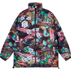 WONDER GARDEN ZIP OVER-PRINTED JACKET