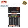 Box sạc kèm 4 pin AA 2550mAh Panasonic eneloop Pro K-KJ55HCC40C - made in Japan (Đen)