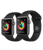 Apple Watch Series 3 Space Gray Aluminum Case with Black Sport Band (GPS) Model 2019