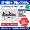 Bộ 2 camera Dome HD 1.0Mp KBvision - USA