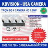 Bộ 4 camera thân HD 1Mp KBvision USA