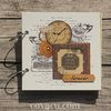 Scrapbook handmade Retro Clock