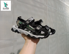 SUPERMAN JR. KIDS SANDALS BLACK SILVER CAMO