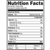 Myprotein Impact whey blend 5.5lbs fact