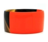Buffalo horn bangle braclet with lacquer