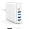 Sạc Anker 5 Cổng, 60w PowerPort +5 USB C with USB Power delivery - A2056