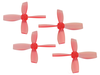 Rakonheli 2222 4 Blade Transparent Propeller (2CW+2CCW; 1.5mm Shaft) (Red)