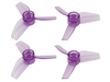 Rakonheli 40mm 3 Blade Transparent Propeller (2CW+2CCW; 1.0mm Shaft) (Purple)