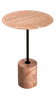 MARBLE SIDE TABLE - CYLINDER SHAPED BASE - T7 - PINK MARBLE