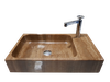 [NEW] NATURAL STONE BATHROOM BASIN - WOODEN YELLOW - LBKXG