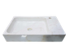 [NEW] NATURAL STONE BATHROOM BASIN - MILK WHITE - LBKXG