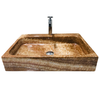 [NEW] NATURAL STONE BATHROOM BASIN - WOODEN YELLOW - VCN28