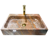 [NEW] NATURAL STONE BATHROOM BASIN - PINK MARBLE - HCN28