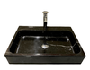 [NEW] NATURAL STONE BATHROOM BASIN - BLACK MARBLE - DCN28