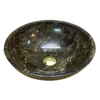 NATURAL STONE BATHROOM BASIN - BROWN MARBLE - BST27