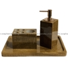 STONE PRODUCT - BATHROOM ACCESSORIES - WOODEN YELLOW