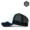 B016 BIG-Sponge two-tone Mesh plain baseball cap WH/Navy