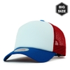 B017 BIG-Sponge two-tone Mesh plain baseball cap Blue/Red