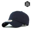 B021 BIG- washing plain ballcap Navy