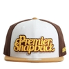 [outlet] Nón hiphop PREMIER TWO LINE brown/beige