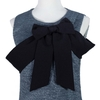Textured Fabric Bow Cross Tie Dress