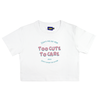 DKMV Croptop Too Cute To Care-White
