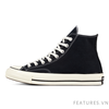 Converse Chuck Taylor All Star 1970s Black White High