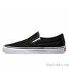 Vans Slip on Black White