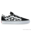 Vans Old Skool TM Glow Skulls Black White - Ship US